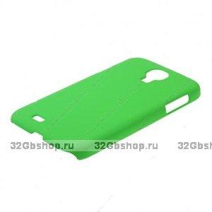 Пластиковый чехол для Samsung Galaxy S4 - Matte Plastic Case green - зеленый