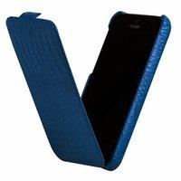 Кожаный чехол Borofone для iPhone 5c голкбой крокодил - Borofone Crocodile  flip Leather case Blue