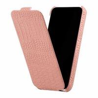 Кожаный чехол Borofone для iPhone 5c розовый крокодил - Borofone Crocodile  flip Leather case Pink