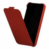 Кожаный чехол Borofone для iPhone 5c красный крокодил - Borofone Crocodile  flip Leather case Red