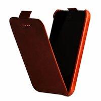 Кожаный чехол Borofone для iPhone 5c оранжевый флип - Borofone General flip Leather Case Orange