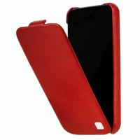 Кожаный чехол HOCO для iPhone 5c красный - HOCO Duke Leather Case Red