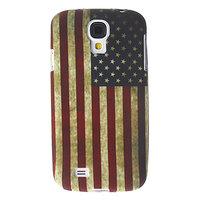 Силиконовый чехол для Samsung Galaxy S4 ретро флаг Америки