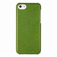 Кожаная накладка Melkco для iPhone 5C зеленая - Melkco Leather Snap Cover Green LC
