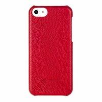 Красная кожаная накладка Melkco для iPhone 5C красная - Melkco Leather Snap Cover Red LC