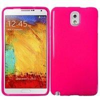 Силиконовый чехол для Samsung Galaxy Note 3 N9000 темно-розовый