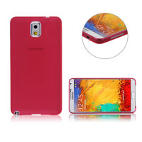 Ультратонкий чехол для Samsung Galaxy Note 3 N9000 красный пластиковый