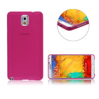 Ультратонкий чехол для Samsung Galaxy Note 3 N9000 розовый матовый 0.3mm Ultra Thin Matte Pink Case