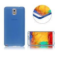 Ультратонкий чехол для Samsung Galaxy Note 3 N9000 синий матовый 0.3mm Ultra Thin Matte Blue Case
