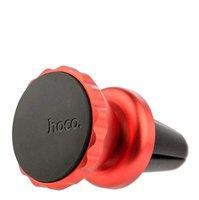 Автомобильный держатель Metal magnetic air outlet mobile phone holder - магнитный универсальный в решетку для iPhone 5/5s/5c Hoco красный
