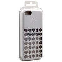Чехол для iPhone 5c c отверстиями белый - Dots Silicone Case White
