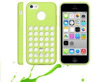 Чехол для iPhone 5c c отверстиями зеленый - Dots Silicone Case Green