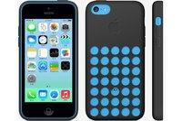 Чехол накладка для iPhone 5c силикон черный