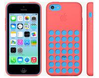 Чехол накладка для iPhone 5c силикон красный