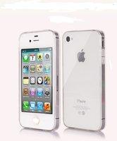Пластиковый чехол задняя накладка для iPhone 4/4S прозрачная