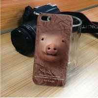 Чехол накладка для iPhone 5 / 5s / SE свинка,поросенок