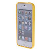Пластиковый бампер для iPhone 5c желтый