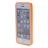 Пластиковый бампер для iPhone 5c оранжевый