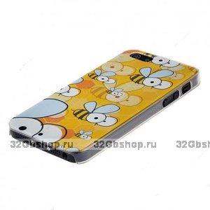 Чехол накладка для iPhone 5 / 5s / SE пчелы