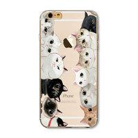 Чехол накладка для iPhone 5 / 5s / SE коты