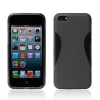 Силиконовый чехол накладка для iPhone 5C черный - Waistline Style Silicone Case Black