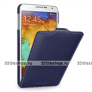 Кожаный чехол Melkco для Samsung Galaxy Note 3 N9000 темно-синий - Melkco Leather Case Jacka Type Dark Blue LC