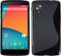 Черный силиконовый чехол для Google Nexus 5 - S Style Silicone Case
