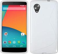 Белый силиконовый чехол для Google Nexus 5 - S Style Silicone Case