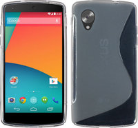 Серый силиконовый чехол для Google Nexus 5 - S Style Silicone Case