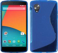 Синий силиконовый чехол для Google Nexus 5 - S Style Silicone Case