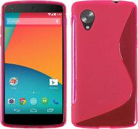 Розовый силиконовый чехол для Google Nexus 5 - S Style Silicone Case