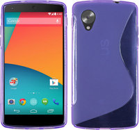 Фиолетовый силиконовый чехол для Google Nexus 5 - S Style Silicone Case