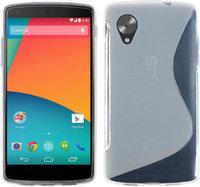 Прозрачный белый силиконовый чехол для Google Nexus 5 - S Style Silicone Case