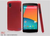 Красный пластиковый чехол накладка для Google Nexus 5