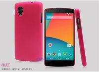 Розовый пластиковый чехол накладка для Google Nexus 5