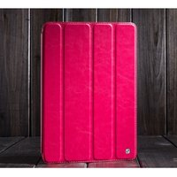 Кожаный чехол HOCO для iPad Air (iPad5) малиновый - HOCO Crystal Leather Case for iPad Air Pink