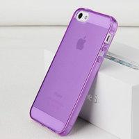 Фиолетовый прозрачный силиконовый чехол для iPhone 5s / SE / 5