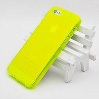 Желтый прозрачный силиконовый чехол для iPhone 5s / SE / 5