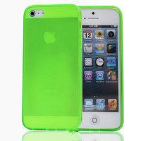 Салатовый прозрачный силиконовый чехол для iPhone 5s / SE / 5