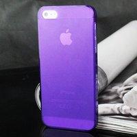 Ультратонкая накладка Ultra Thin Matte Crystal Case 0.5mm для iPhone 5 / 5s / SE фиолетовая