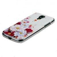 Hакладка Lux Case для Samsung GT-I9190 Galaxy S4 Mini белая с розовыми цветами