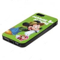 Силиконовый чехол для iPhone 5 / 5s / SE зелёный Микки Маус