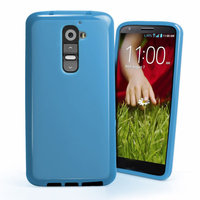 Голубой силиконовый чехол для LG G2 D802