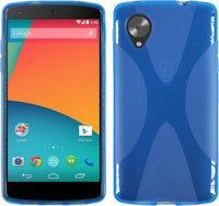 Силиконовый чехол X Style Case для Google Nexus 5 голубой
