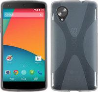 Силиконовый чехол X Style Case для Google Nexus 5 прозрачный серый