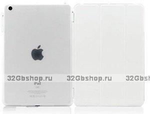 Чехол обложка для iPad Air белый - Smart Cover & Crystal Back Case White