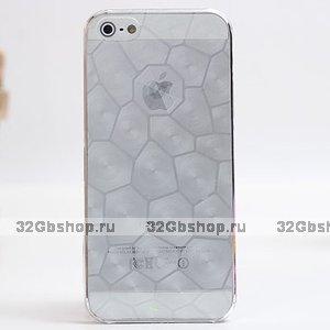 Прозрачная пластиковая накладка Water Cube Ultra Thin 0.5mm чехол для iPhone 5s / SE / 5