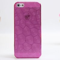 Розовая прозрачная пластиковая накладка Water Cube Ultra Thin 0.5mm Hot Pink чехол для iPhone 5s / SE / 5