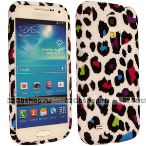 Силиконовый чехол для Samsung Galaxy S4 цветной леопард