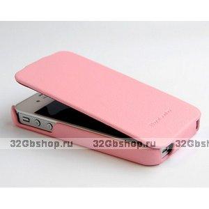 Сумка футляр-книга HOCO для iPhone 4/4S розовая